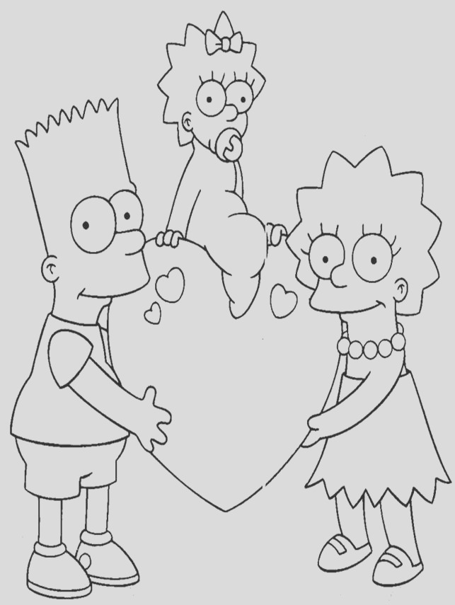 the simpsons coloring pages10