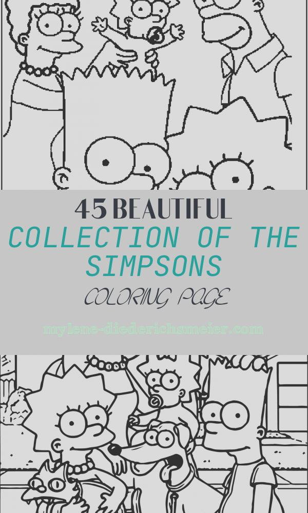 The Simpsons Coloring Page Unique Free Printable Simpsons Coloring Pages for Kids