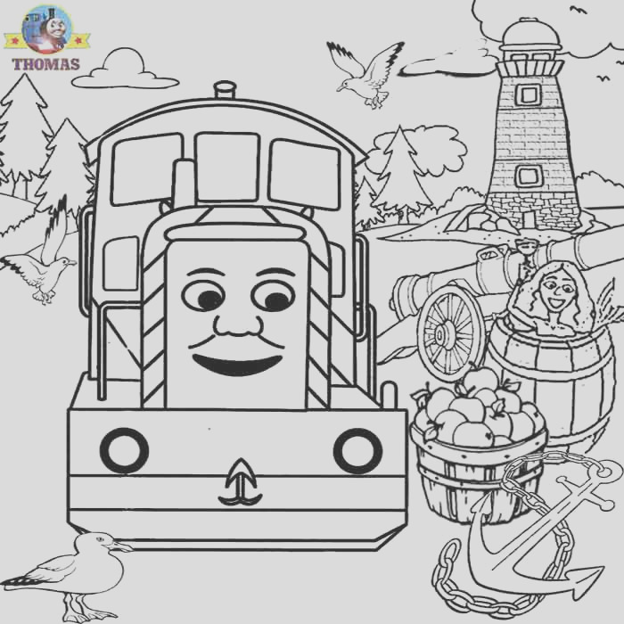 thomas colouring free colouring pages