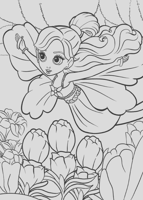 barbie thumbelina is flying coloring pages