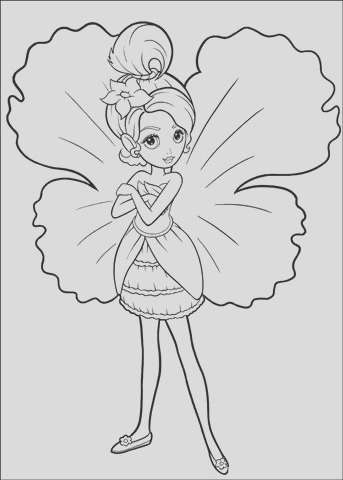 barbie thumbelina coloring pages