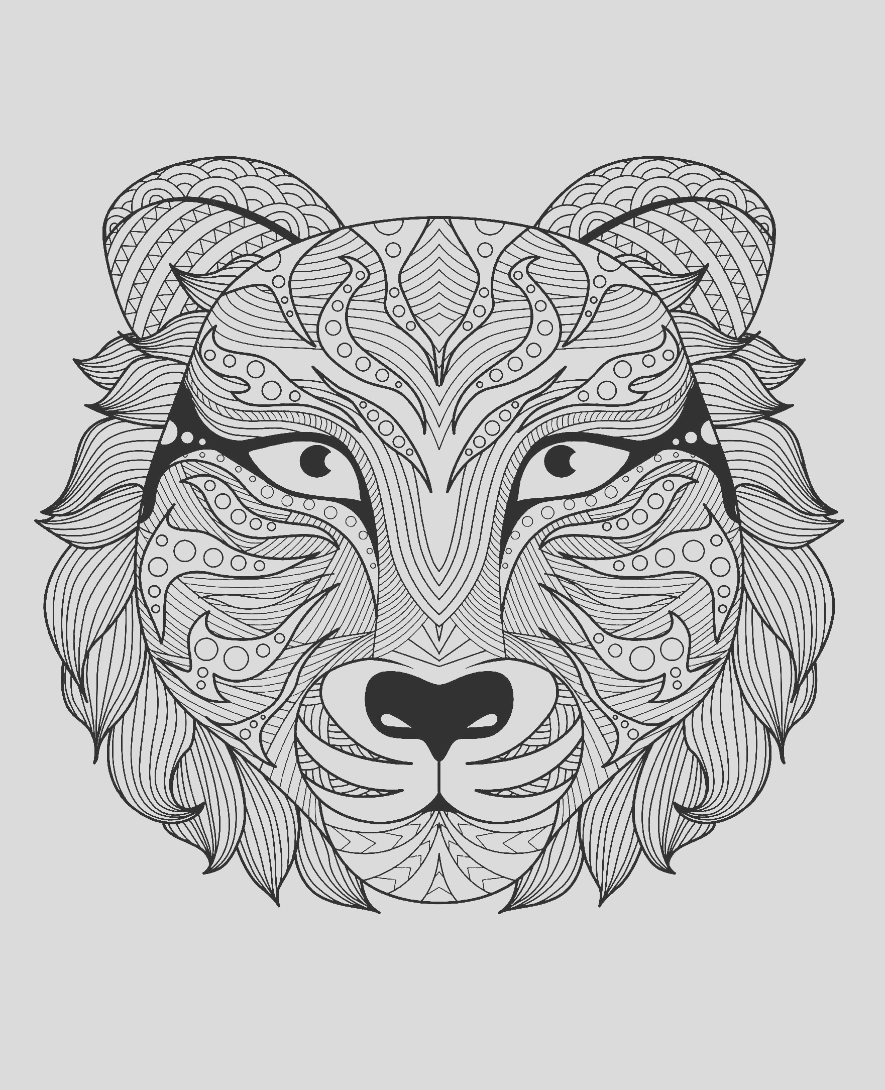 image=tigers coloring page adult tiger head 1