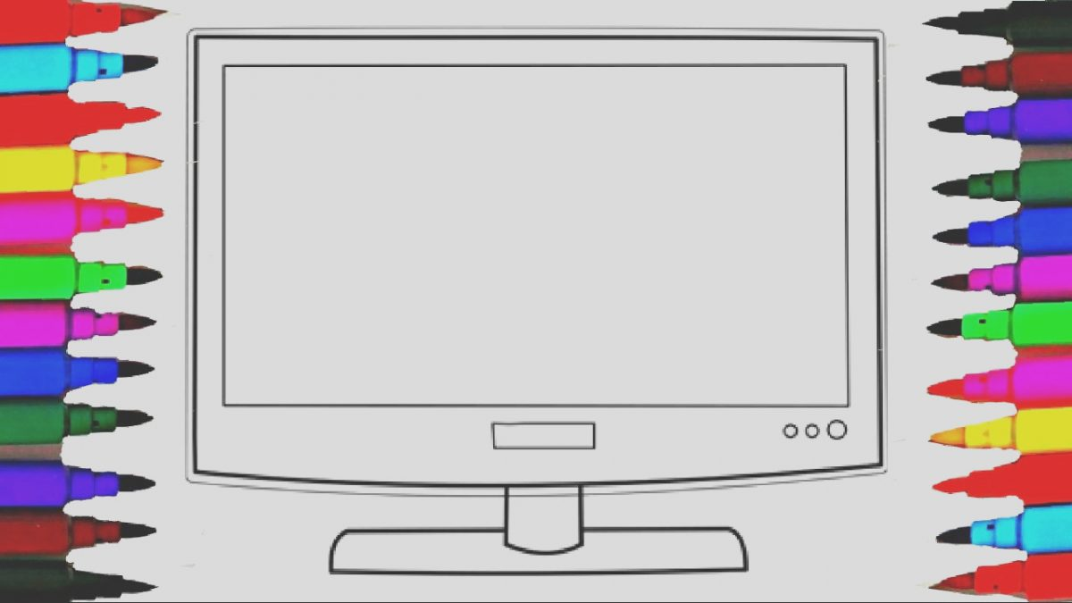 Tv Coloring Page Best Of How to Draw and Color Barbie Colored Television L Tv