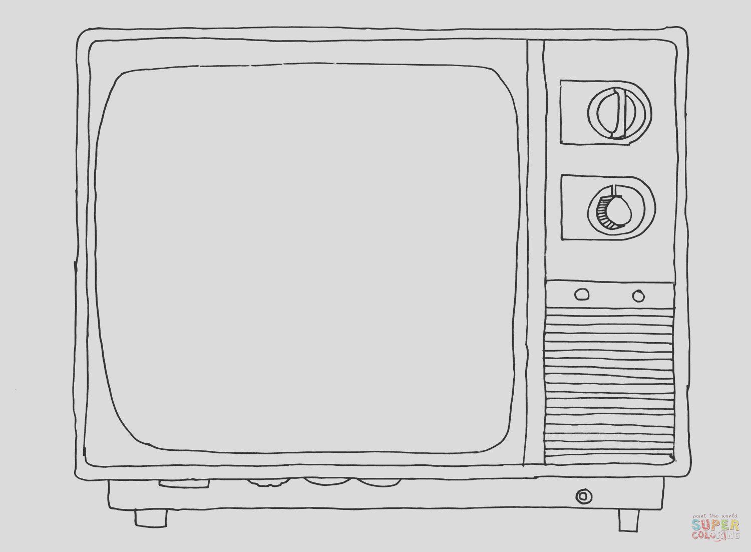old sytle tv