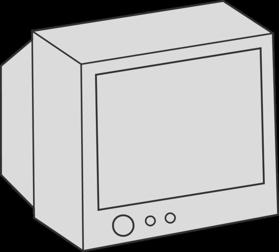 simple television coloring page 1715