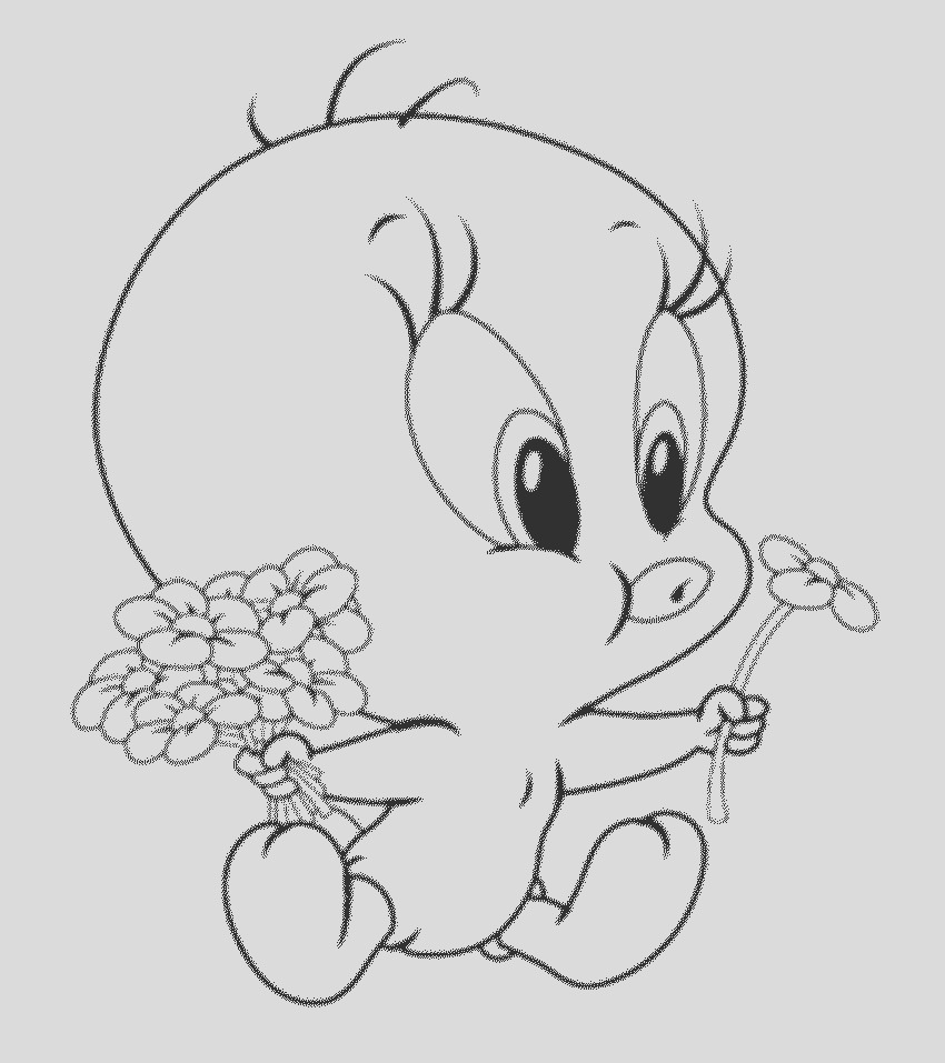 interesting tweety bird coloring pages attract children