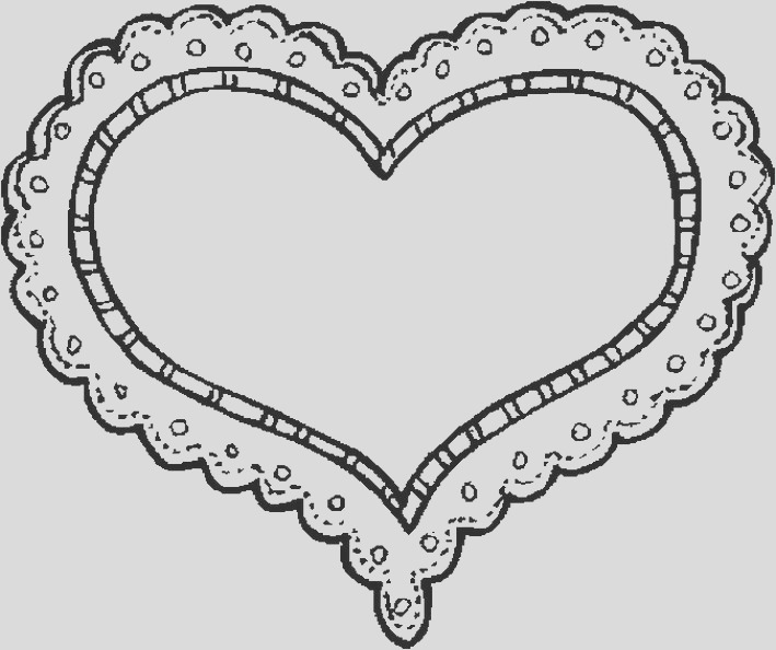 hearts valentines day coloring