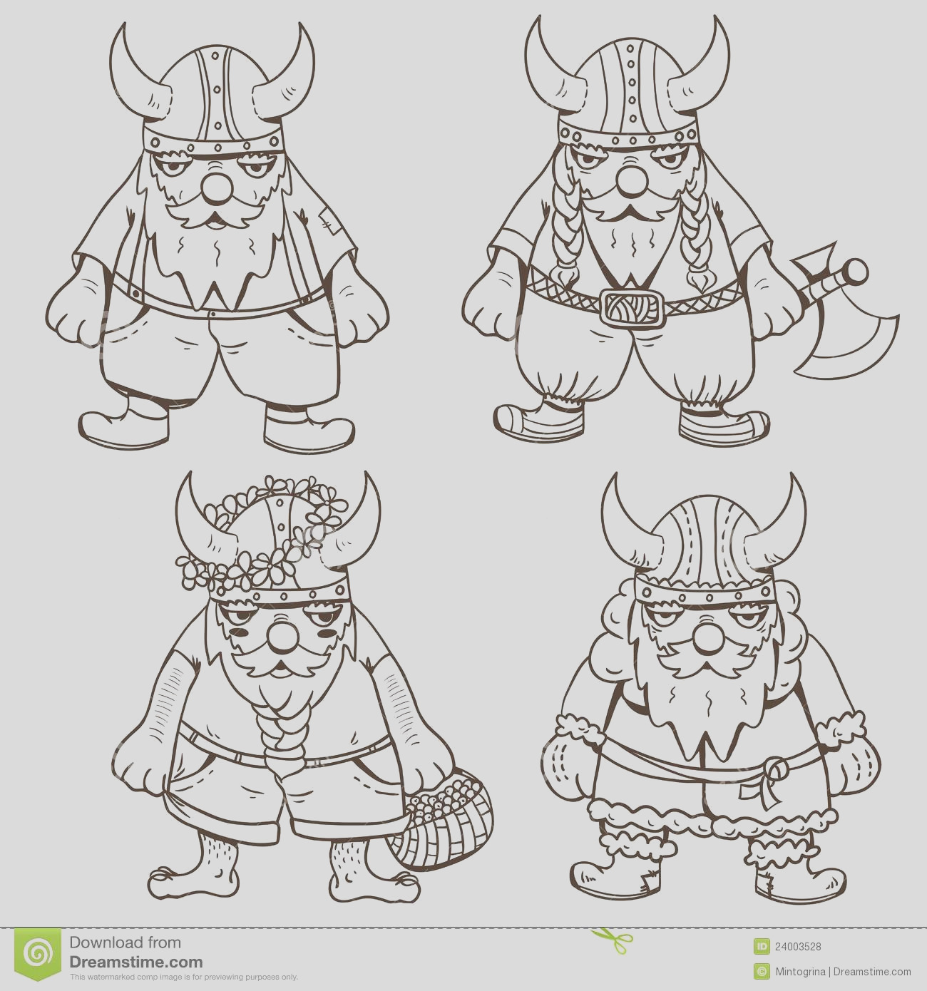 royalty free stock photos coloring page four cute vikings image