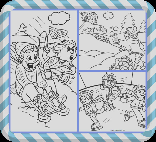 free winter coloring pages kids