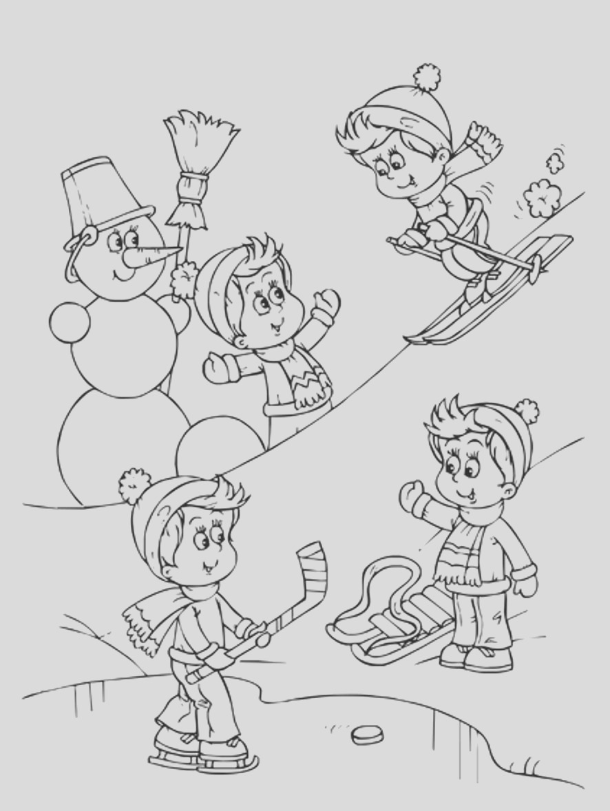 winter sports coloring pages sheets