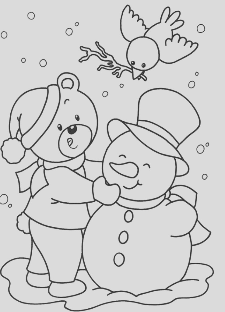 winter time coloring pages