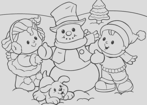 winter coloring pages and clip art