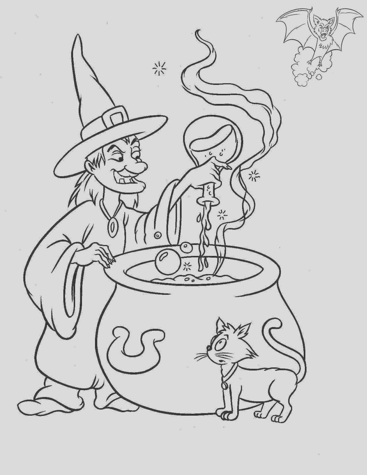 halloween witches for coloring part 1