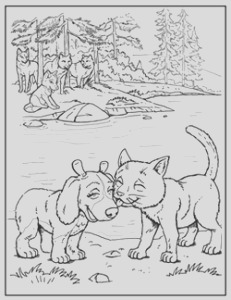 maggiemoosetracks wolf pack coloring pages