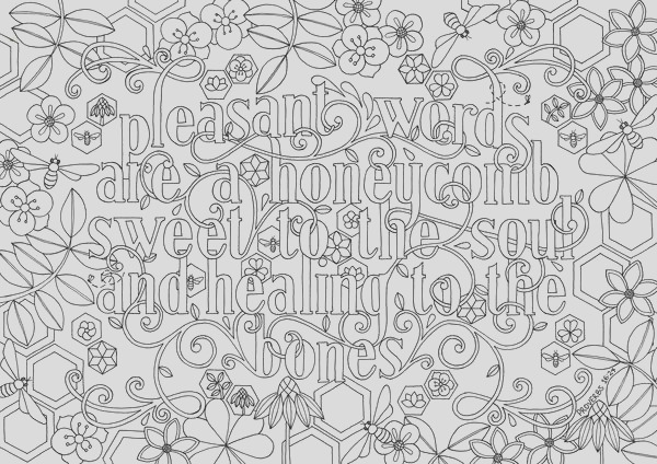 coloring for adults bible verse psalm 16