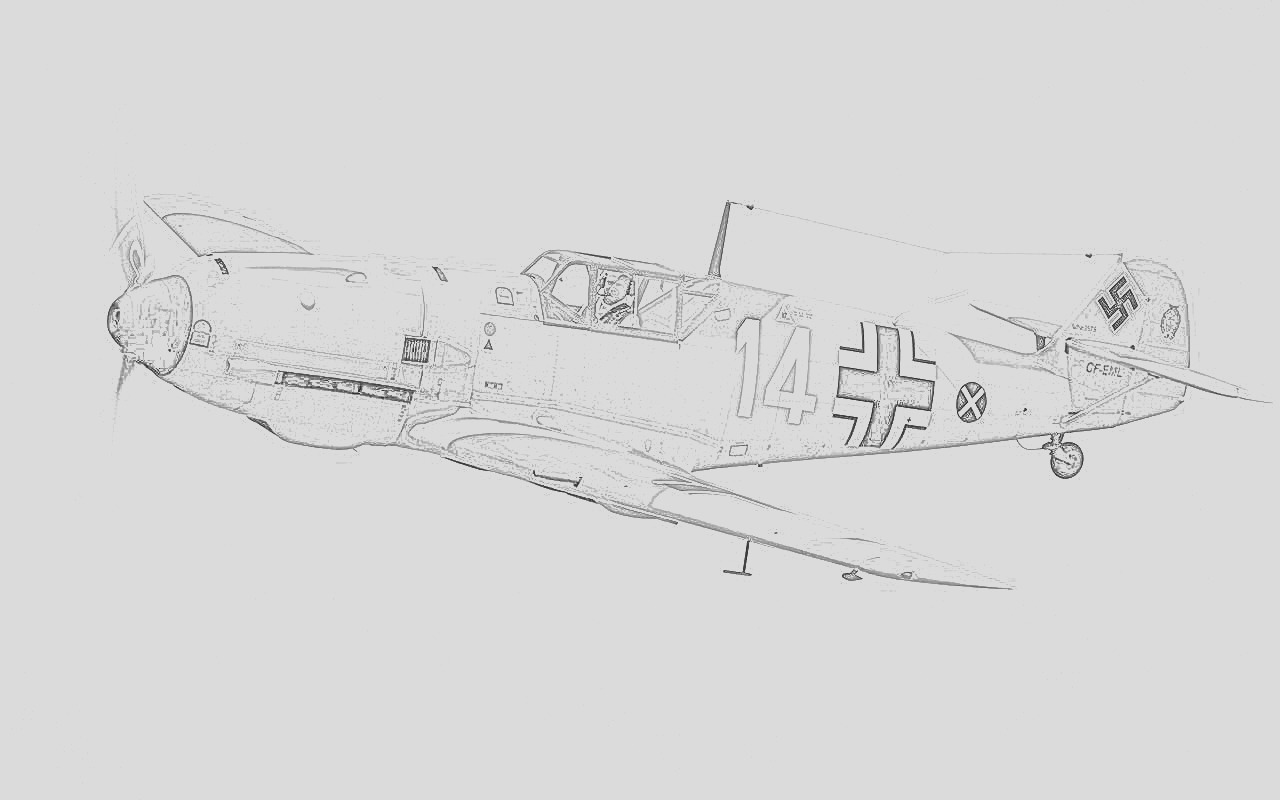 fighter plane coloring pages
