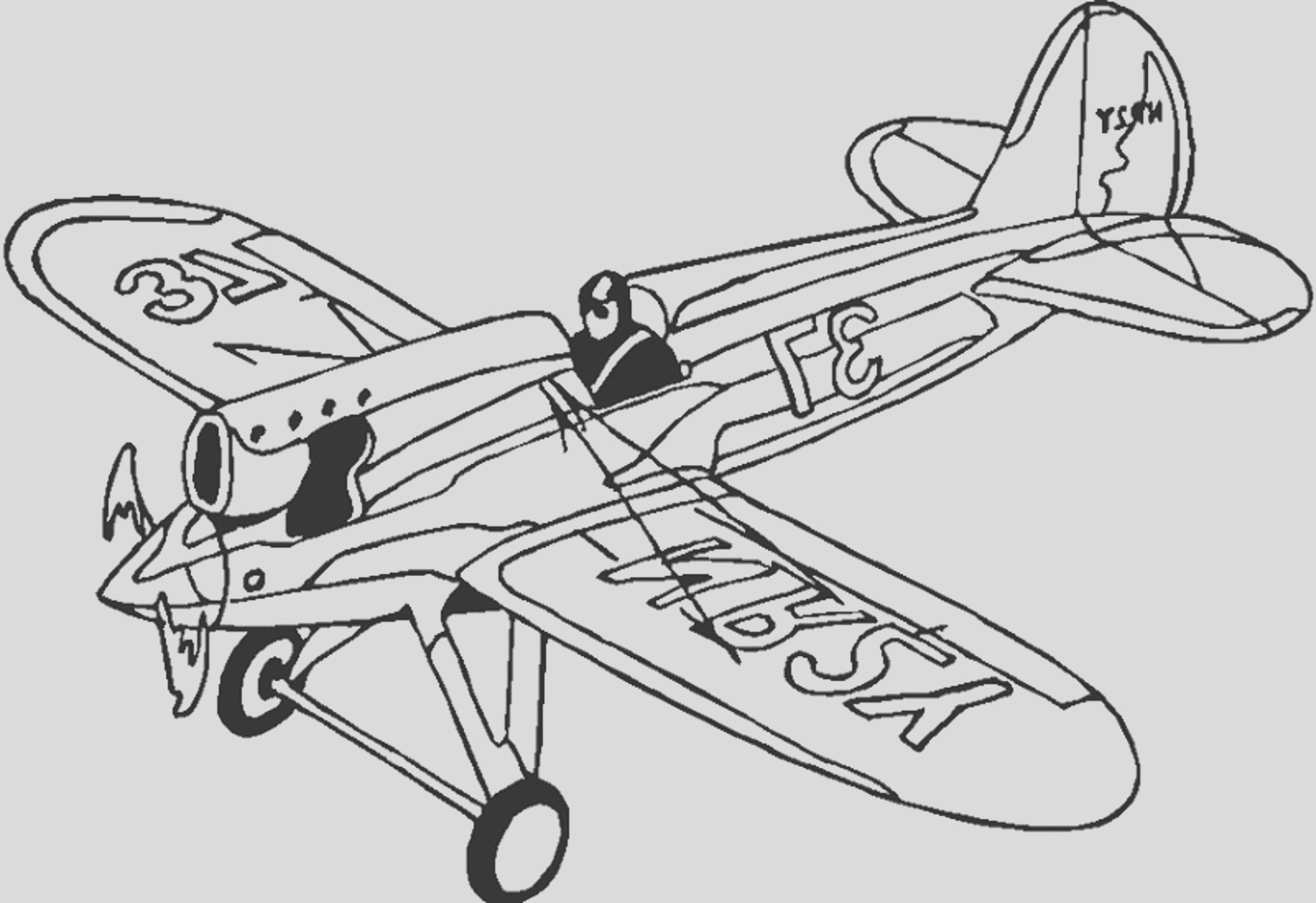 sophisticated transportation airplane coloring pages