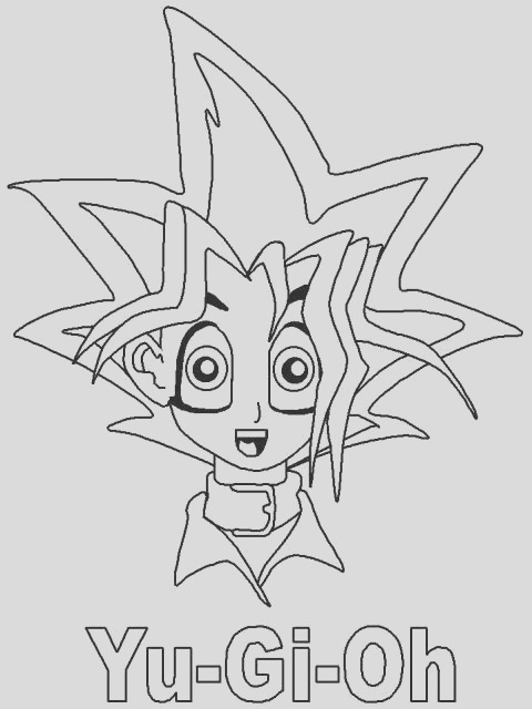 yu gi oh coloring pages 2
