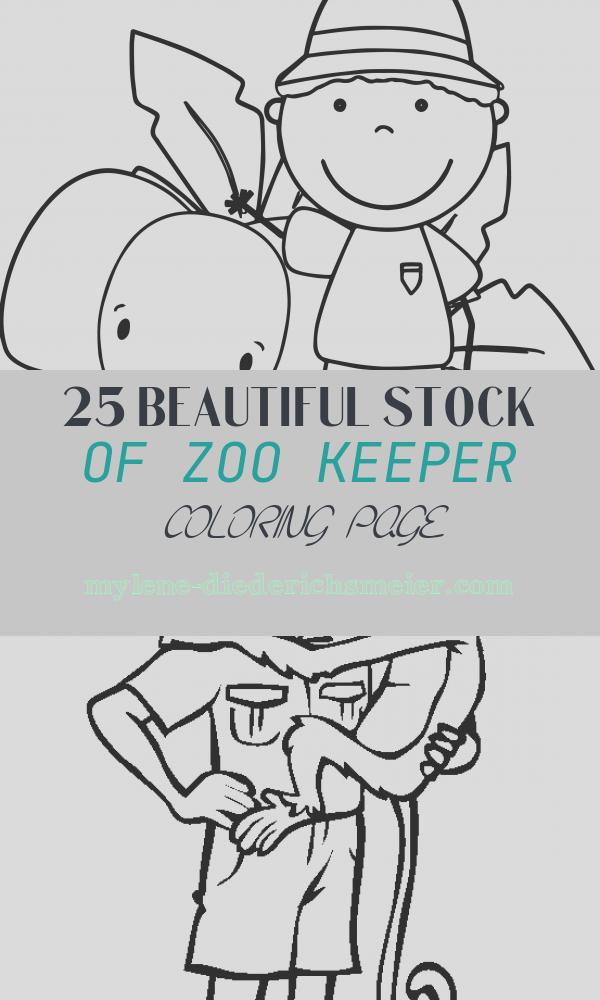 Zoo Keeper Coloring Page Lovely Zoo Keeper and Elephant Coloring Page