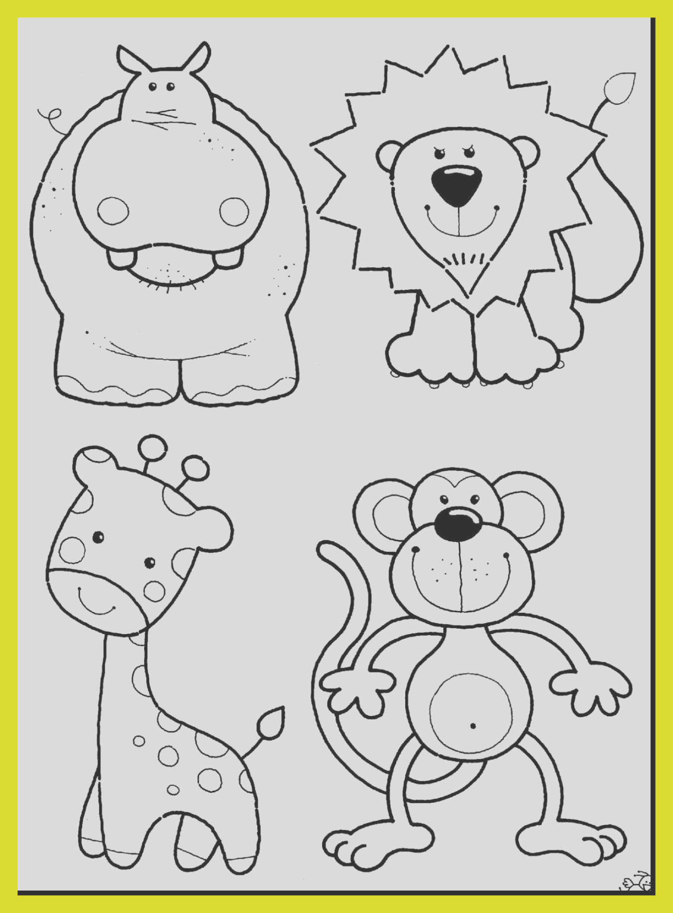 zookeeper coloring page