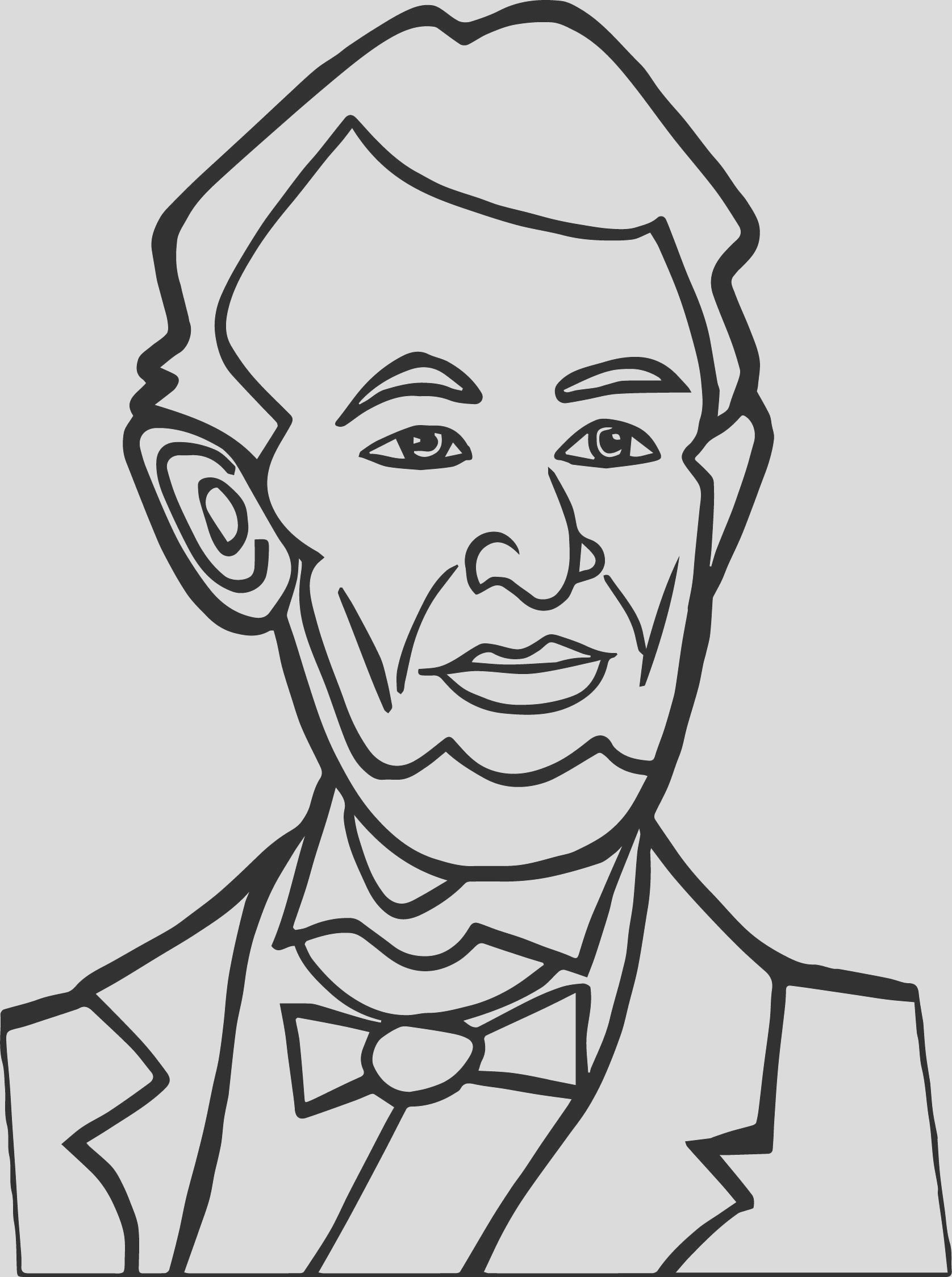 abraham lincoln president good coloring page