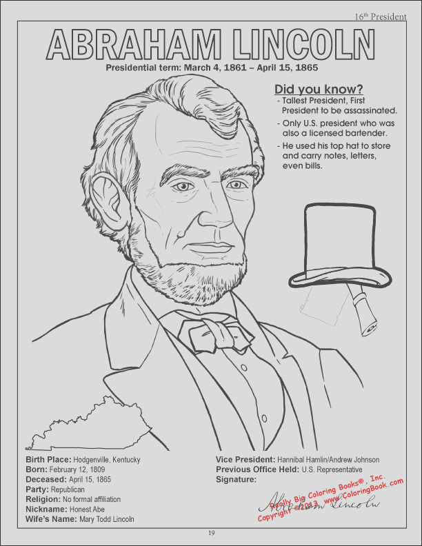 presidents coloring book
