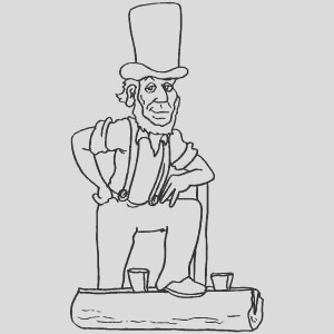 standing abraham lincoln