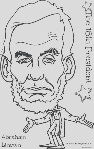 16th president abraham lincold coloring page