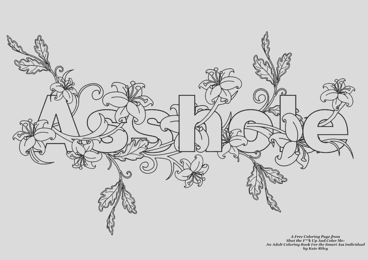 Adult Coloring Page Curse Words Beautiful assholeswear Word Coloring Page Swear Word Adult
