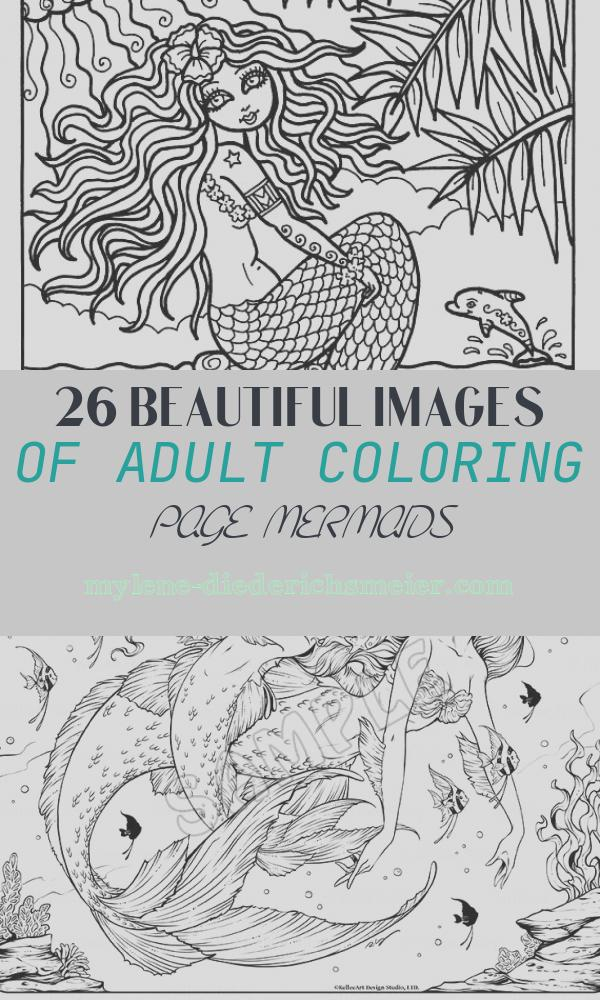 Adult Coloring Page Mermaids Elegant Instant Download Digi Stamp Mermaid From Hawaii Adult Coloring