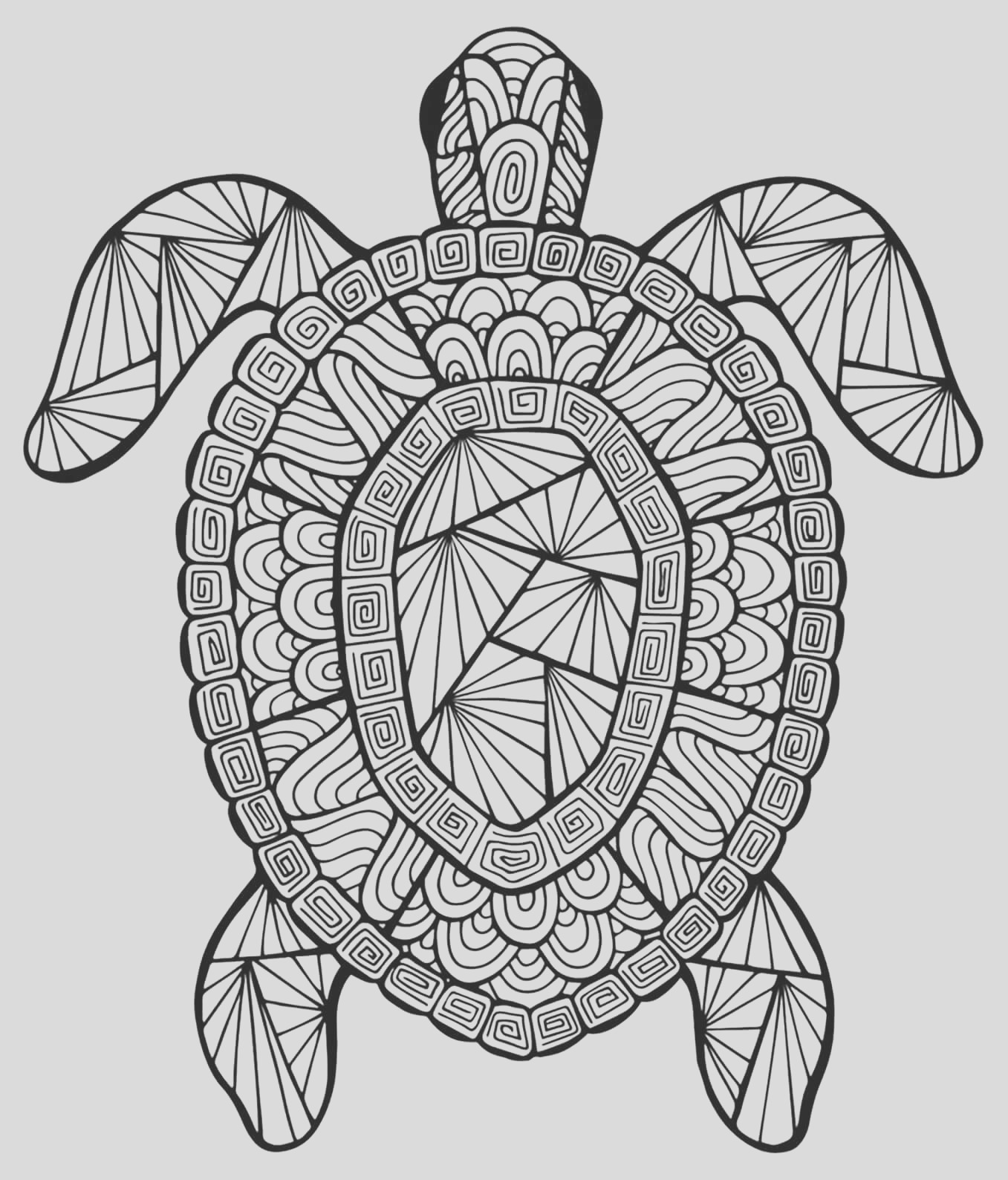 coloring pages for adults difficult animals 44