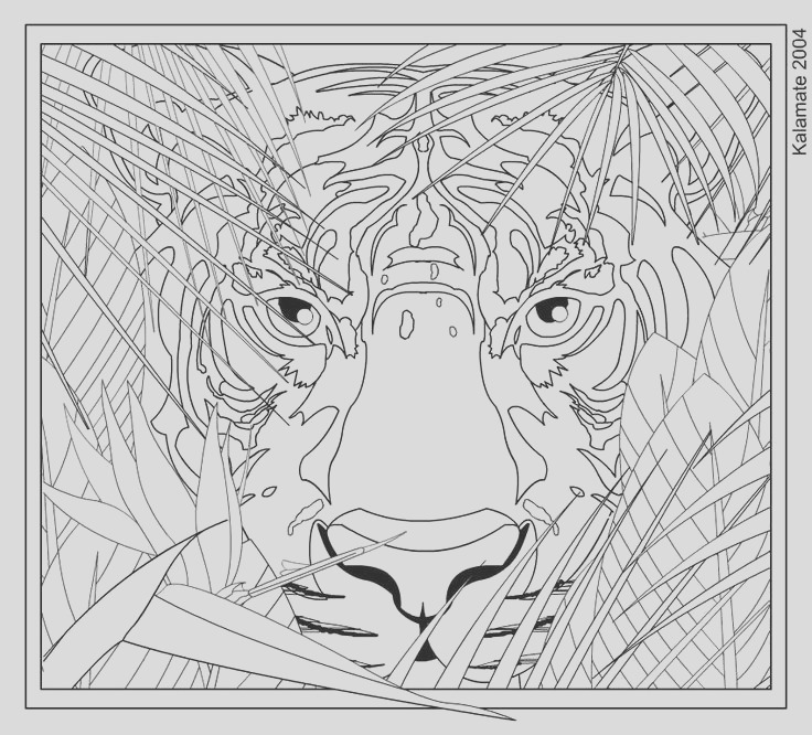 hard coloring pages of animals to print