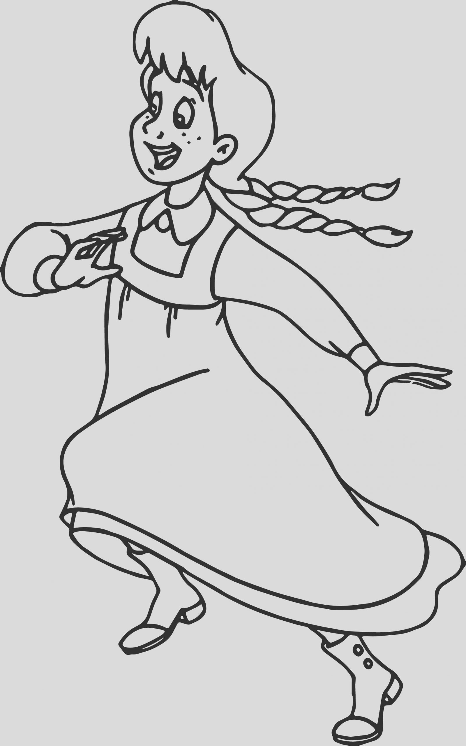 anne green gables running coloring page