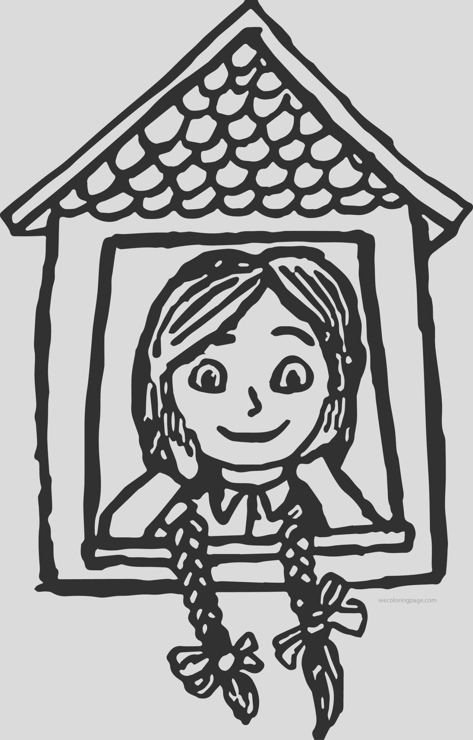anne green gables window coloring page