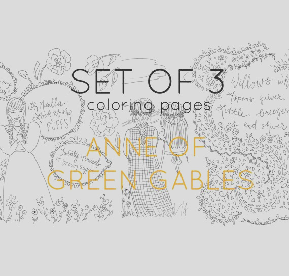 adult coloring pages anne of green