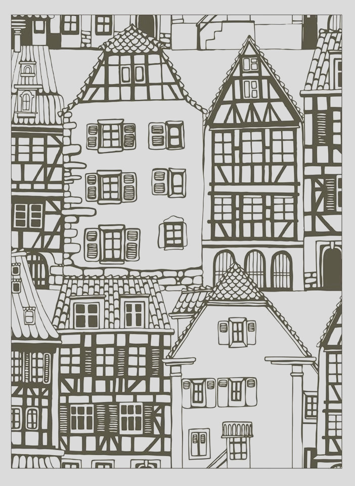 image=architecture home coloring house style alsace france 1