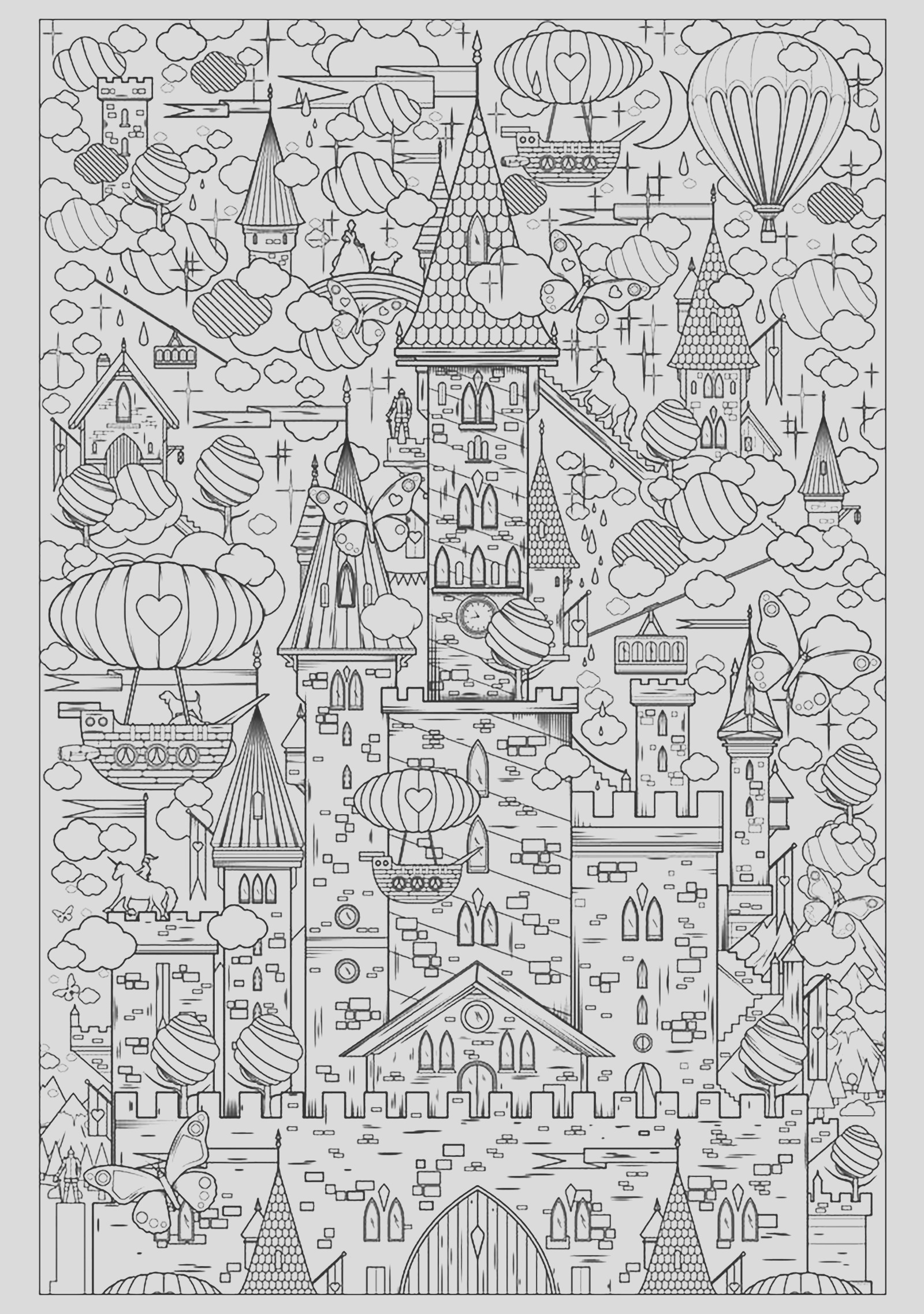 image=architecture home coloring adult incredible castle 1