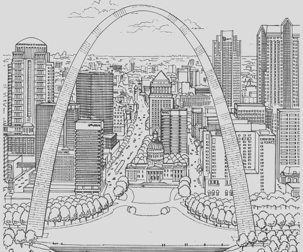 new adult coloring book shows the beauty of st louis architecture