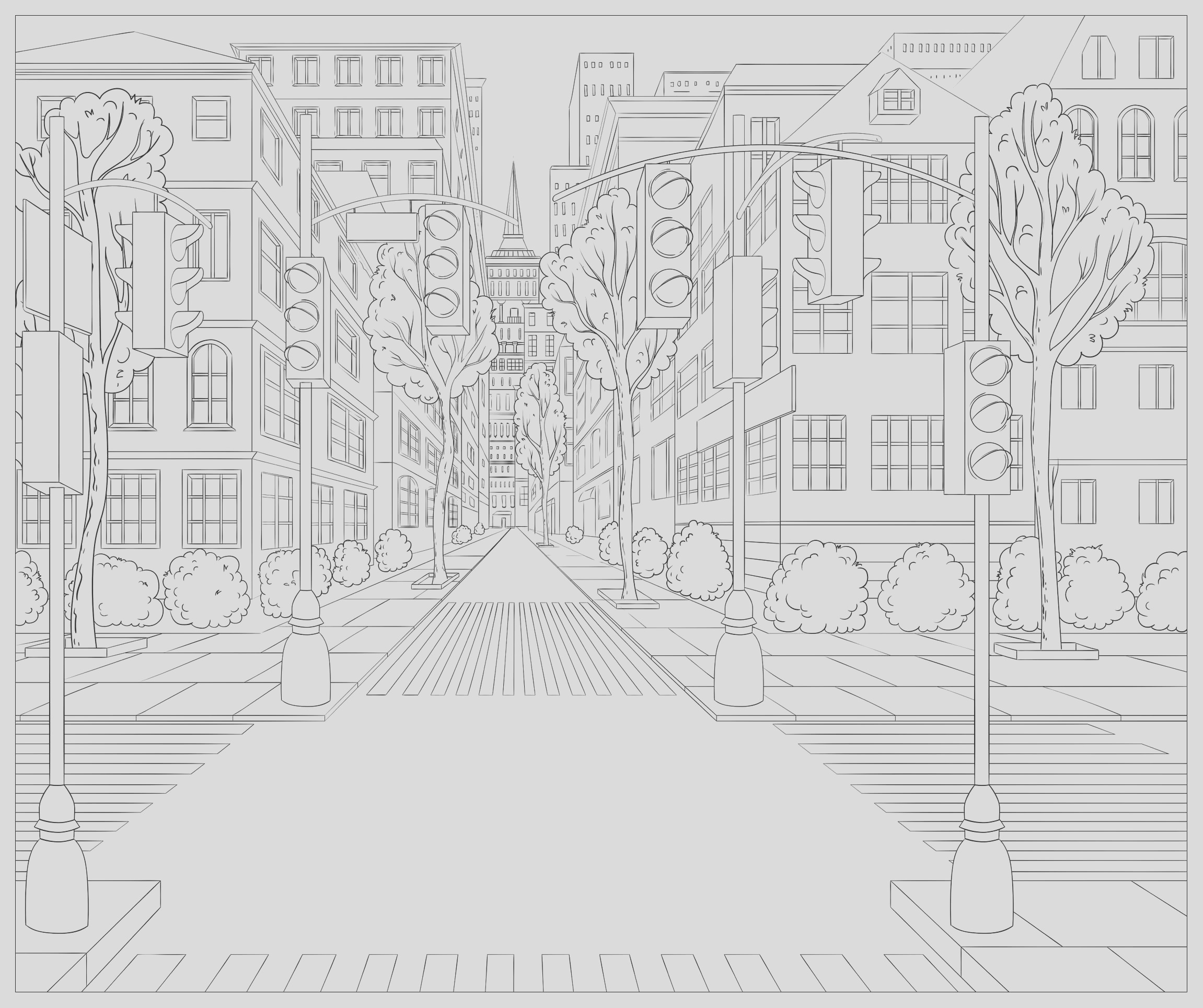 image=architecture home coloring typical north america street 1
