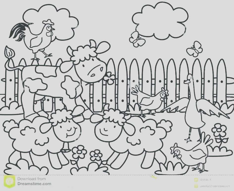 farm scene coloring pages