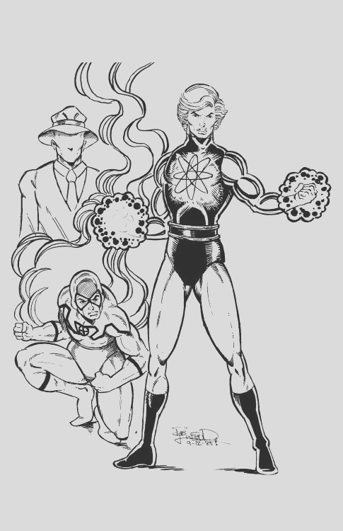 1985 captain atom blue beetle and