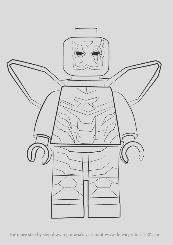 how to draw lego blue beetle