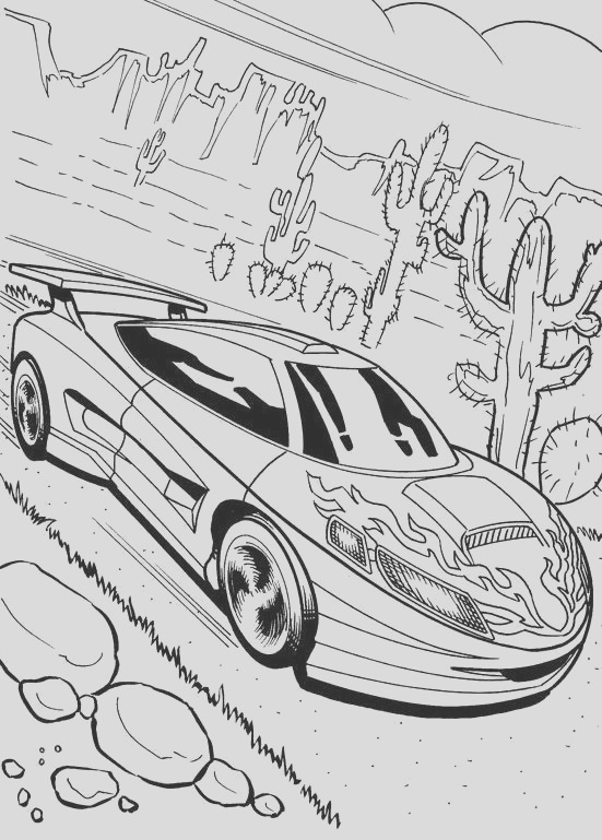cadillac coloring pages
