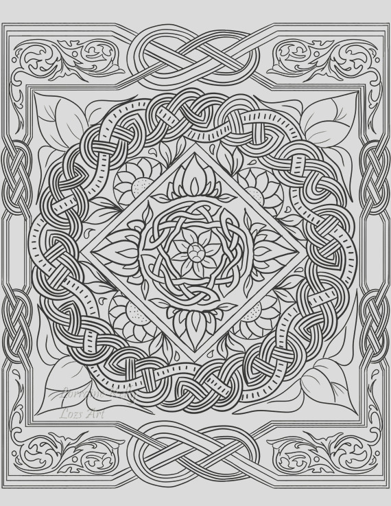 5 x celtic knot adult coloring pages