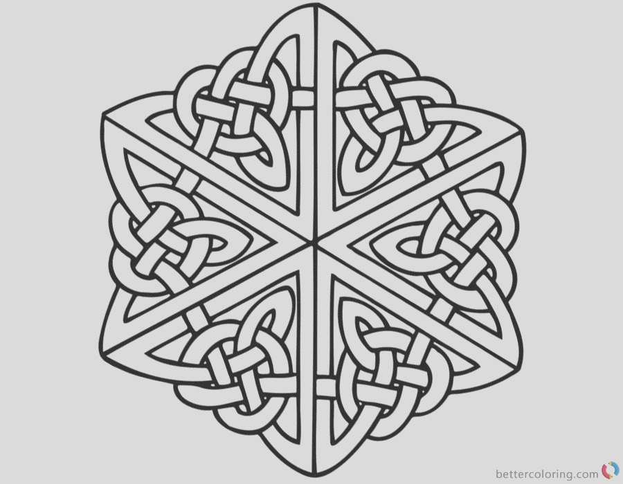 celtic knot coloring pages for adults
