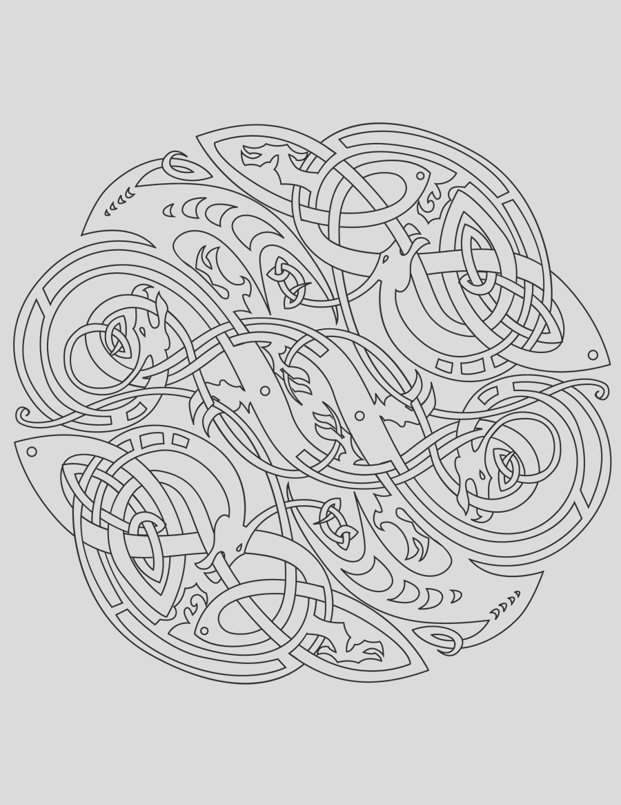 celtic mandala coloring pages for adults