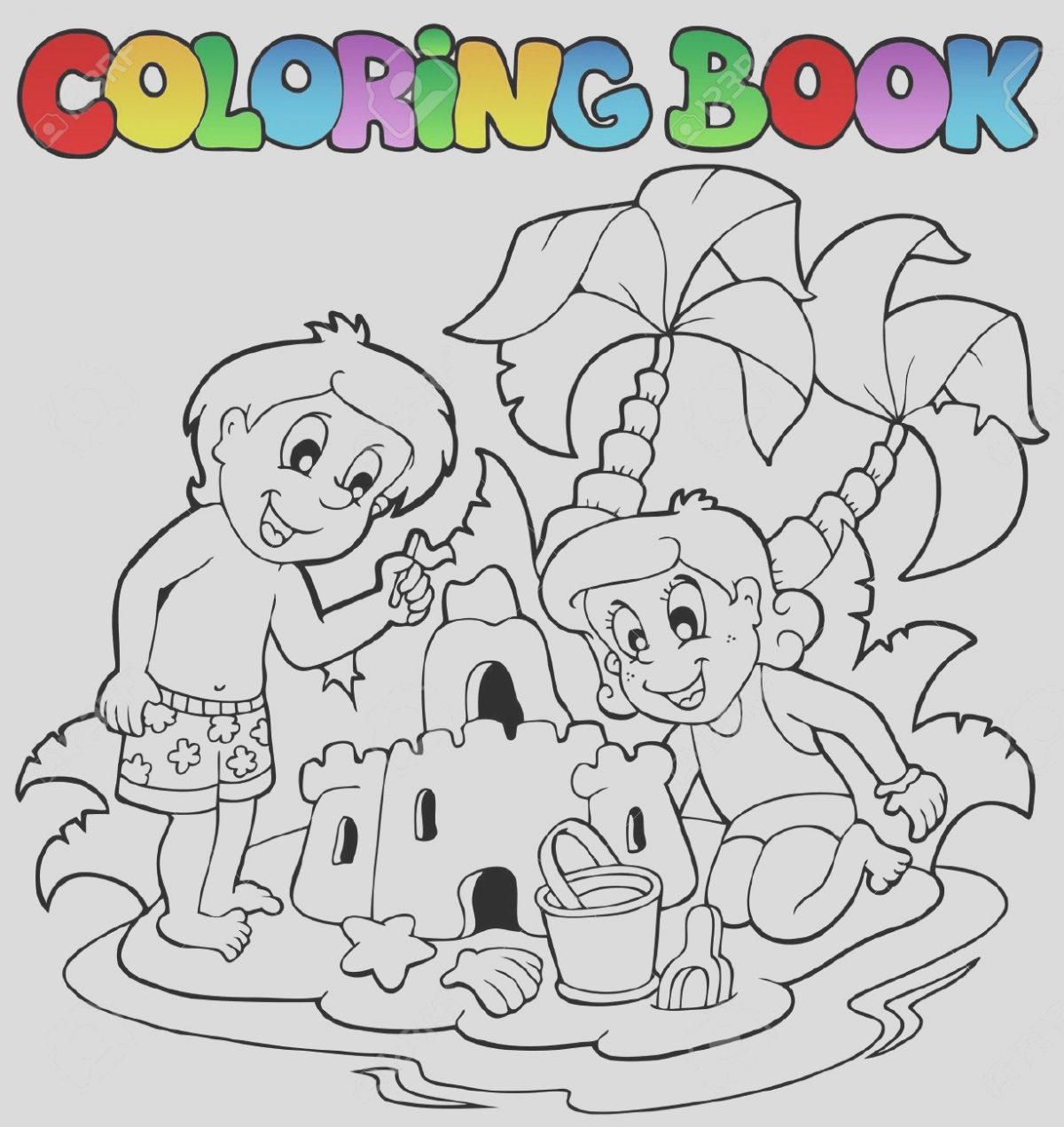 Coloring Book Clip Art Best Of Summer Clipart to Color Clipground