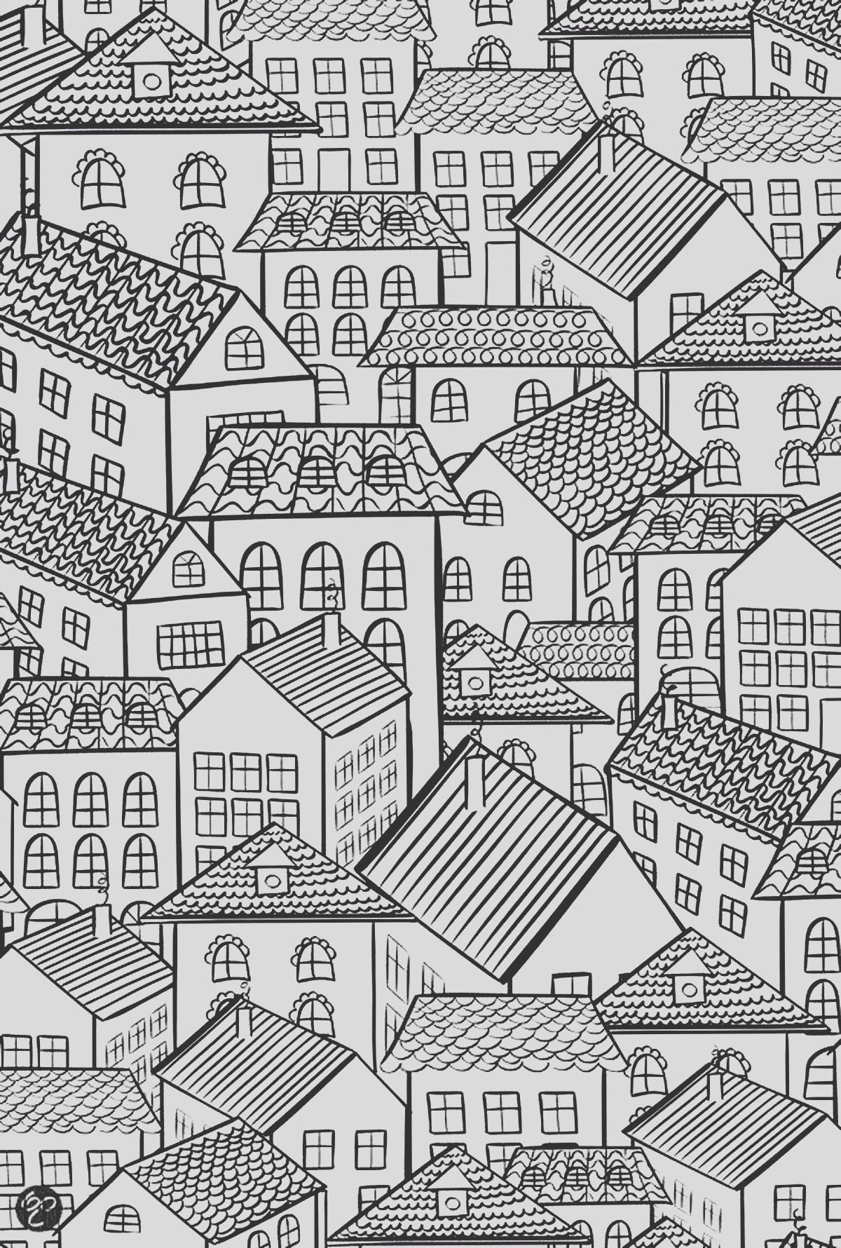 image=architecture home coloring architecture village roofs 1