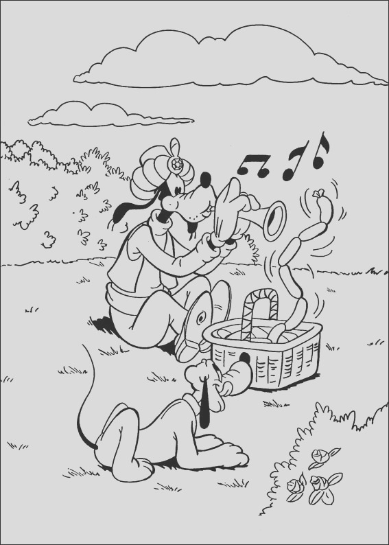disney goofy coloring pages