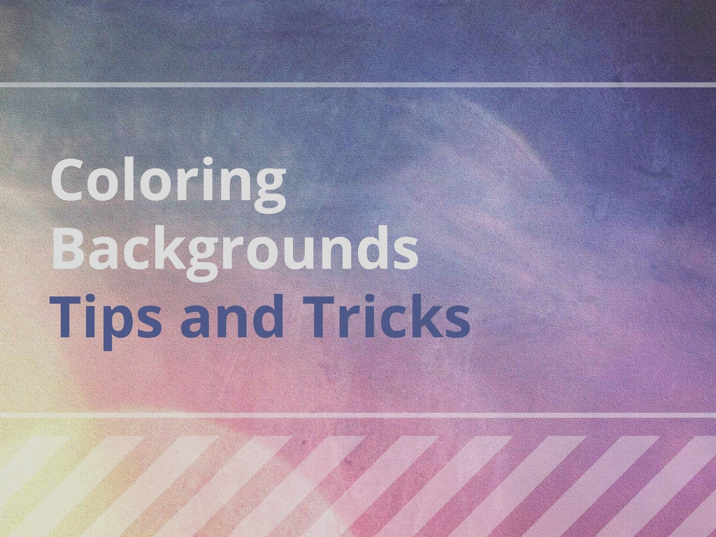 coloring backgrounds tips tricks 2